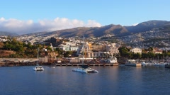 Funchal on Madeira, Portugal Stock Footage
