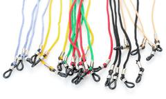 colorful cords with a loops for eyeglasses - stock photo