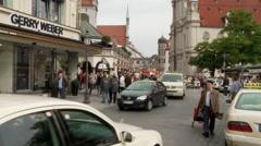 Timelapse Munich Street Stock Footage