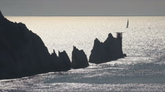 The needles on the solent, isle of wight, england Stock Footage
