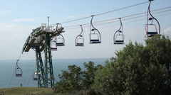 The needles chairlift, alum bay, isle of wight, england Stock Footage