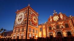 Convent in Ponta Delgada, Sao Miguel, Azores Islands, Portugal Stock Footage