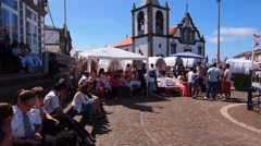 Holy Spirit Festival on Terceira Island, Azores, Portugal Stock Footage