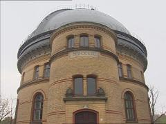 Great Refractor building anno 1899, Telegrafenberg, Potsdam + pan Stock Footage