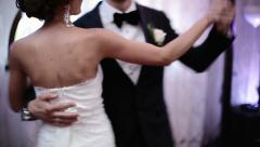 Loving newlywed couple dancing the first dance at wedding Stock Footage