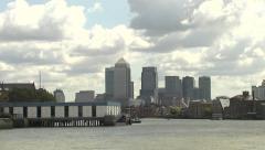 Canary Wharf Long Shot Stock Footage