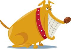 Stock Illustration of funny bad dog cartoon illustration