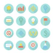 Business and finance infographic design elements. Set of vector target icons. - stock illustration