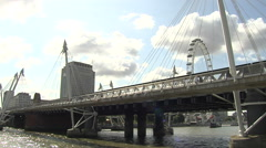 Stock Video Footage of London Eye Reveal
