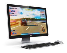 Gaming desktop computer Stock Illustration