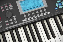 Professional musical synthesizer Stock Illustration