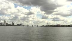Thames Barrier Long Shot Stock Footage