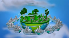 Lowpoly world. Loop animation. Stock Footage