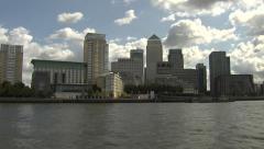 Canary Wharf Tracking Shot (1) Stock Footage
