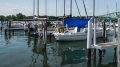 Marina on the detroit river Stock Footage