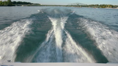 Boating on detroit river Stock Footage