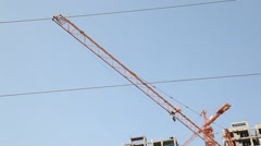 Civil Engineer Constriction site office Stock Footage
