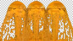 Animated fountains of honey filling up whole screen Stock Footage