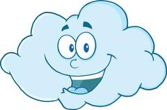 Cloud Cartoon Mascot Character Stock Illustration