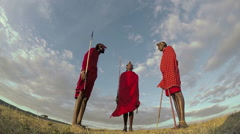 Maasai Tribesmen Stock Footage