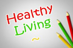 healthy living concept - stock illustration