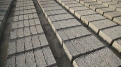 New manufacture grey blocks Stock Footage