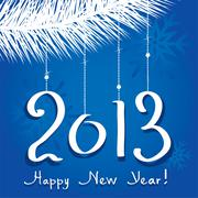 Vector 2013 happy new year greeting Stock Illustration
