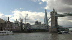 The Shard + Tower Bridge London Stock Footage
