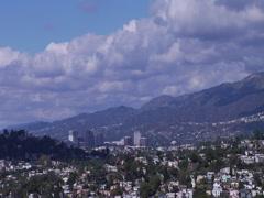 Glendale California cloud Timelapse Stock Footage