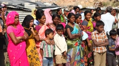 Poor people in India Stock Footage