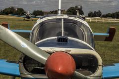 Propeller Plane Close - stock photo