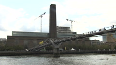 Stock Video Footage of Passing Tate Modern (2)