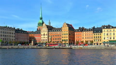 Old Town in Stockholm, Sweden Stock Footage