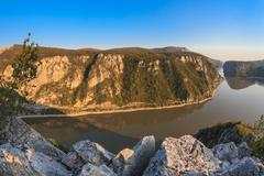 the danube gorges - stock photo