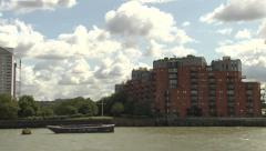 Thames Riverside Buildings Mixed Stock Footage