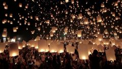 Lantern Traditional Festival in chiangmai Thailand Stock Footage
