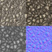 Stock Illustration of rocks seamless generated texture (with diffuse, bump and normal map)