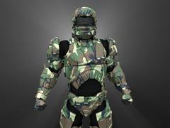 Advanced super soldier - stock illustration