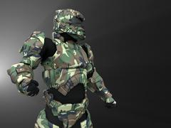 Advanced super soldier Stock Illustration