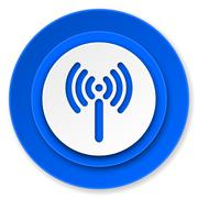 wifi icon, wireless network sign. - stock illustration