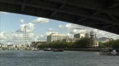 London Eye Long Shot Stock Footage