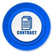 Contract icon.. Stock Illustration