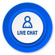 Live chat icon. Stock Illustration