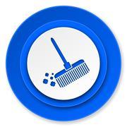 .broom icon. - stock illustration