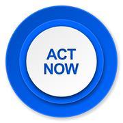act now icon. - stock illustration