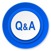 question answer icon. - stock illustration