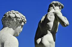 replica of the david by michelangelo in florence, italy - stock photo