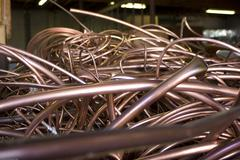 Recycled Copper Tubing - stock photo