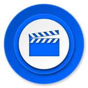 Video icon, cinema sign.. Piirros