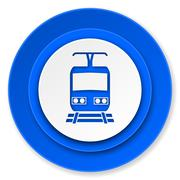 Train icon, public transport sign.. Piirros